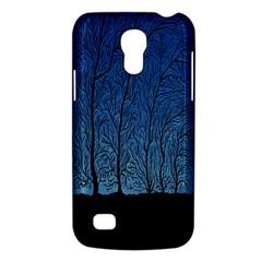 Forest Tree Night Blue Black Man Galaxy S4 Mini