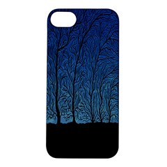 Forest Tree Night Blue Black Man Apple Iphone 5s/ Se Hardshell Case
