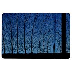 Forest Tree Night Blue Black Man Ipad Air 2 Flip