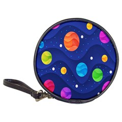 Planet Space Moon Galaxy Sky Blue Polka Classic 20 Cd Wallets