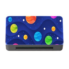 Planet Space Moon Galaxy Sky Blue Polka Memory Card Reader With Cf
