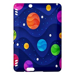 Planet Space Moon Galaxy Sky Blue Polka Kindle Fire Hdx Hardshell Case