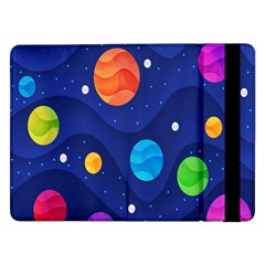 Planet Space Moon Galaxy Sky Blue Polka Samsung Galaxy Tab Pro 12 2  Flip Case