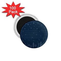 Rain Hill Tree Waves Sky Water 1 75  Magnets (100 Pack)