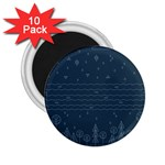 Rain Hill Tree Waves Sky Water 2.25  Magnets (10 pack)  Front