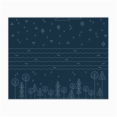 Rain Hill Tree Waves Sky Water Small Glasses Cloth (2 Side)