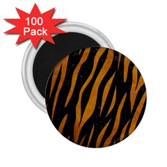 Skin3 Black Marble & Yellow Grunge (r) 2 25  Magnets (100 Pack)