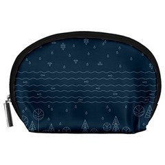 Rain Hill Tree Waves Sky Water Accessory Pouches (large)
