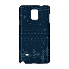 Rain Hill Tree Waves Sky Water Samsung Galaxy Note 4 Hardshell Case