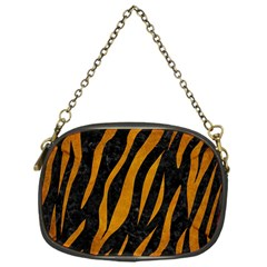 Skin3 Black Marble & Yellow Grunge (r) Chain Purses (one Side)