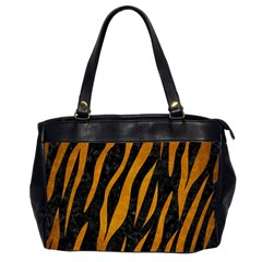 Skin3 Black Marble & Yellow Grunge (r) Office Handbags (2 Sides)
