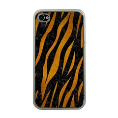 Skin3 Black Marble & Yellow Grunge (r) Apple Iphone 4 Case (clear)