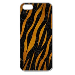 Skin3 Black Marble & Yellow Grunge (r) Apple Seamless Iphone 5 Case (clear)