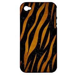 Skin3 Black Marble & Yellow Grunge (r) Apple Iphone 4/4s Hardshell Case (pc+silicone)