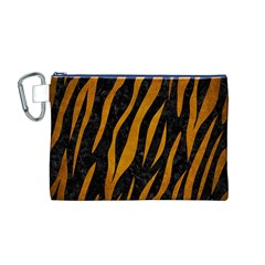 Skin3 Black Marble & Yellow Grunge (r) Canvas Cosmetic Bag (m)