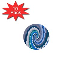Psycho Hole Chevron Wave Seamless 1  Mini Buttons (10 Pack)