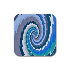 Psycho Hole Chevron Wave Seamless Rubber Square Coaster (4 Pack)