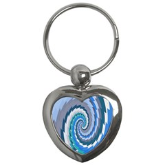 Psycho Hole Chevron Wave Seamless Key Chains (heart)