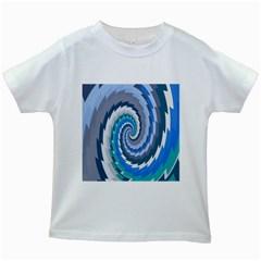 Psycho Hole Chevron Wave Seamless Kids White T Shirts