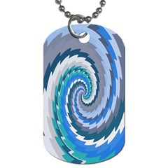 Psycho Hole Chevron Wave Seamless Dog Tag (two Sides)