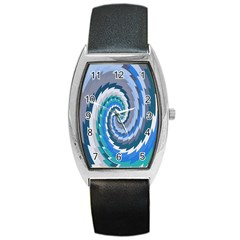 Psycho Hole Chevron Wave Seamless Barrel Style Metal Watch