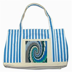 Psycho Hole Chevron Wave Seamless Striped Blue Tote Bag