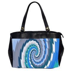 Psycho Hole Chevron Wave Seamless Office Handbags (2 Sides)
