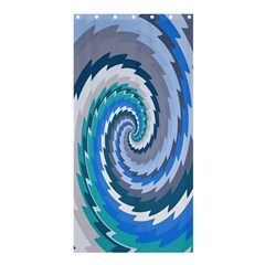 Psycho Hole Chevron Wave Seamless Shower Curtain 36  X 72  (stall)