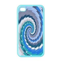 Psycho Hole Chevron Wave Seamless Apple Iphone 4 Case (color)
