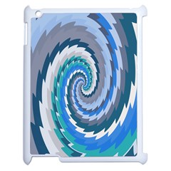 Psycho Hole Chevron Wave Seamless Apple Ipad 2 Case (white)