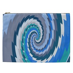 Psycho Hole Chevron Wave Seamless Cosmetic Bag (xxl)