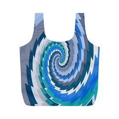 Psycho Hole Chevron Wave Seamless Full Print Recycle Bags (m)