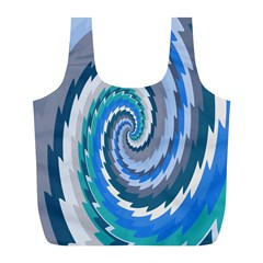 Psycho Hole Chevron Wave Seamless Full Print Recycle Bags (l)