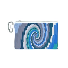 Psycho Hole Chevron Wave Seamless Canvas Cosmetic Bag (s)