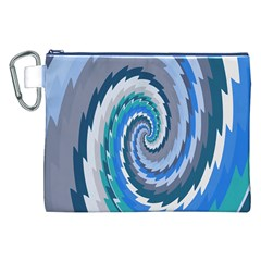 Psycho Hole Chevron Wave Seamless Canvas Cosmetic Bag (xxl)