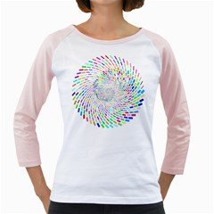 Prismatic Abstract Rainbow Girly Raglans