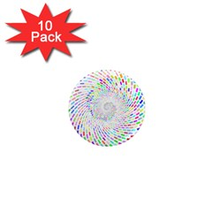 Prismatic Abstract Rainbow 1  Mini Magnet (10 Pack)