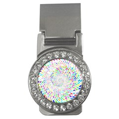 Prismatic Abstract Rainbow Money Clips (cz)