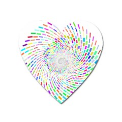 Prismatic Abstract Rainbow Heart Magnet