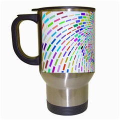 Prismatic Abstract Rainbow Travel Mugs (white)