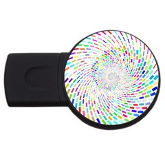 Prismatic Abstract Rainbow Usb Flash Drive Round (4 Gb)