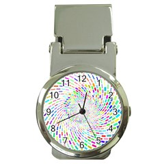 Prismatic Abstract Rainbow Money Clip Watches
