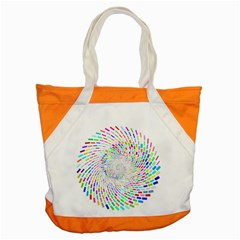 Prismatic Abstract Rainbow Accent Tote Bag