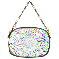 Prismatic Abstract Rainbow Chain Purses (two Sides)