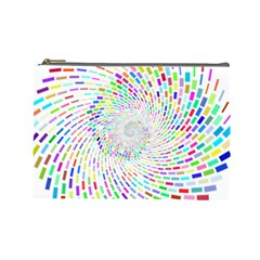 Prismatic Abstract Rainbow Cosmetic Bag (large)