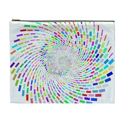 Prismatic Abstract Rainbow Cosmetic Bag (xl)