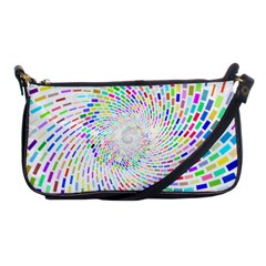Prismatic Abstract Rainbow Shoulder Clutch Bags