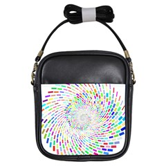 Prismatic Abstract Rainbow Girls Sling Bags