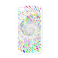 Prismatic Abstract Rainbow Apple Iphone 4 Case (white)