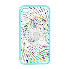 Prismatic Abstract Rainbow Apple Iphone 4 Case (color)